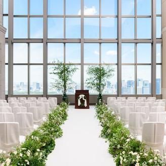 地上37階、東京を一望する最上階で叶えるスカイビューウエディング
