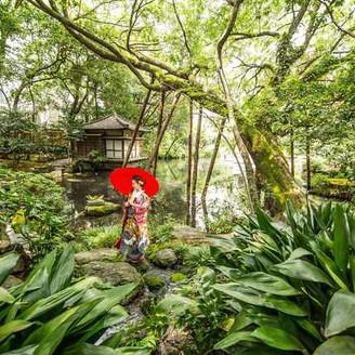 2100坪の和庭園は浮月楼ならではの和婚が叶います