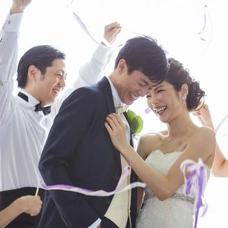 【演出】リボンシャワーにて お二人を祝福しましょう!