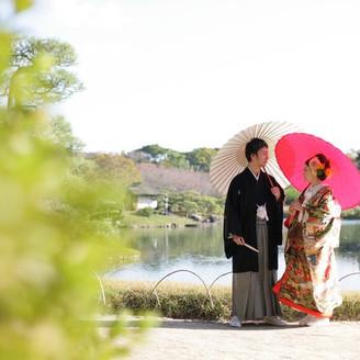 名勝後楽園にて素敵なお写真が撮れます。