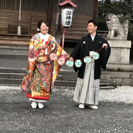 府内城 和装 スタジオ フォトウェディング 色打掛 紋付袴
