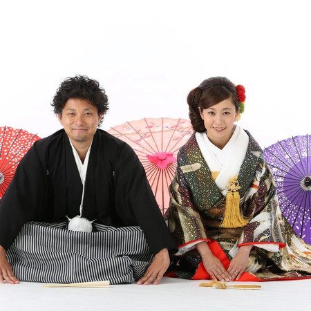 和装 紋付袴 色打掛 番傘
