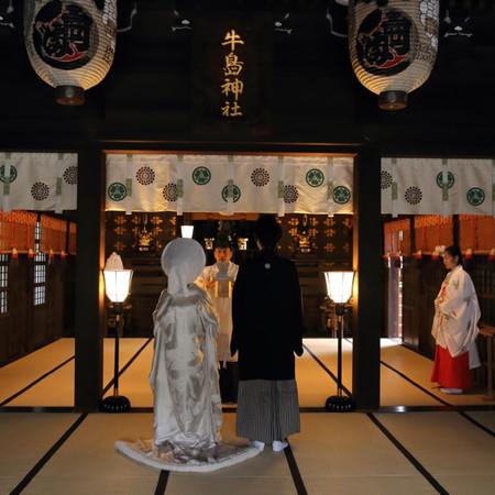 白無垢 神社 神前式 和装 前撮り ロケーション