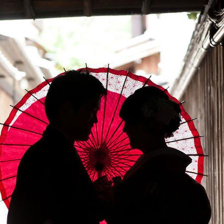 シルエット 番傘