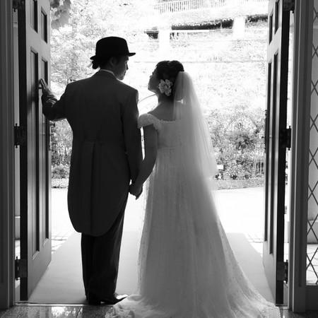 ドレス ウェディングドレス 教会 挙式 ドレス持ち込み ナチュラル ブーケ 小物持ち込み 兵庫県 神戸