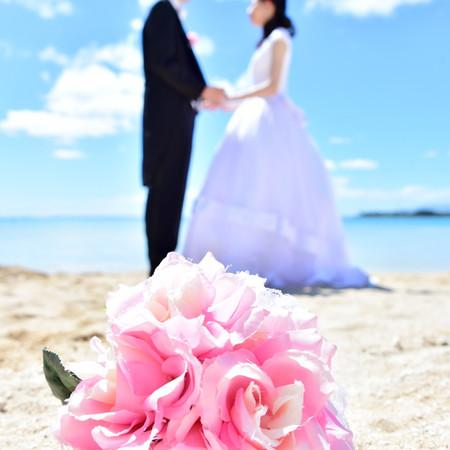 ロケーション ドレス ウェディングドレス タキシード ビーチ ブーケ ハワイ