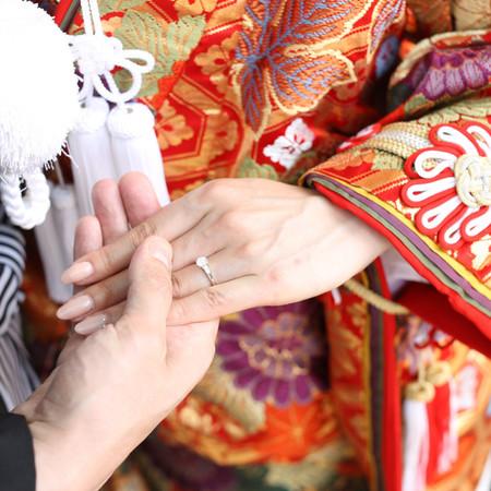 和装 前撮り 京都 ロケーション 色打掛 紋付袴 番傘指輪
