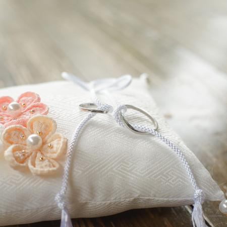 リングピロー 結婚指輪 カルティエバレリーナ 華雅苑 和装前撮り 指輪