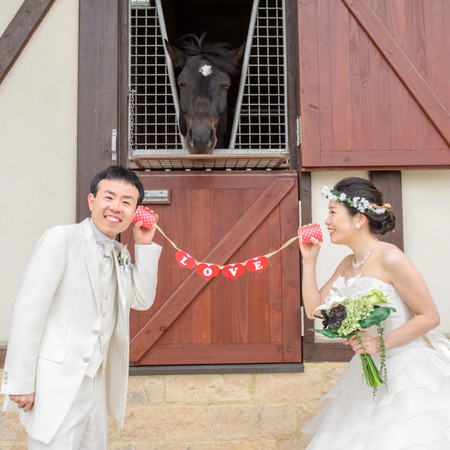 ロケーション 馬 糸電話 ドレス ウェディングドレス タキシード LOVE