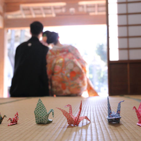 和装 ロケーション 折り鶴