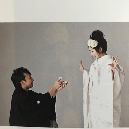 白無垢 黒紋付袴 プロポーズ
