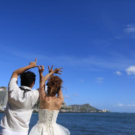 ドレス ロケーション ウェディングドレス ハワイ