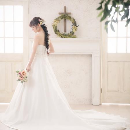 ドレス ウェディングドレス スタジオ ハウススタジオ チャペル ロングヘア ラプンツェル ラプンツェルヘア 編み下ろし 和装 洋装