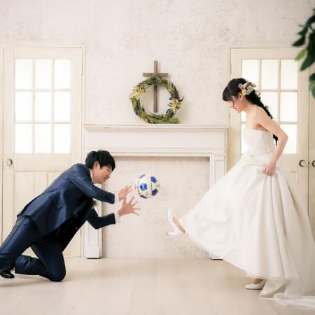 ドレス ウェディングドレス タキシード スタジオ ハウススタジオ チャペル サッカー サッカーボール キーパー 和装 洋装