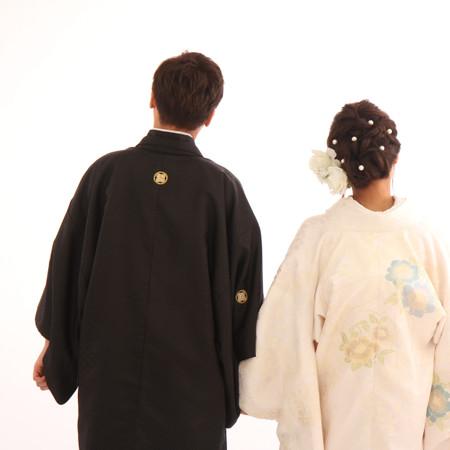 和装 スタジオ バックショット 黒紋付袴