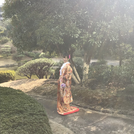 和装 庭園 色打掛 ロケーション 紋付袴