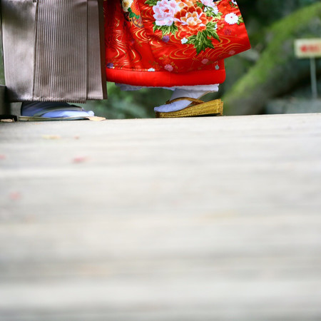 和歌山城 色打掛け 黒紋付袴