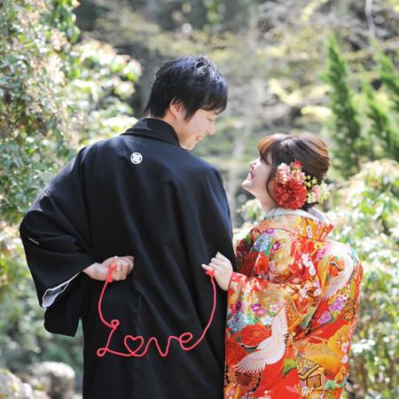 赤い糸 和装 色打掛 ロケーション 観光地 広島 宮島
