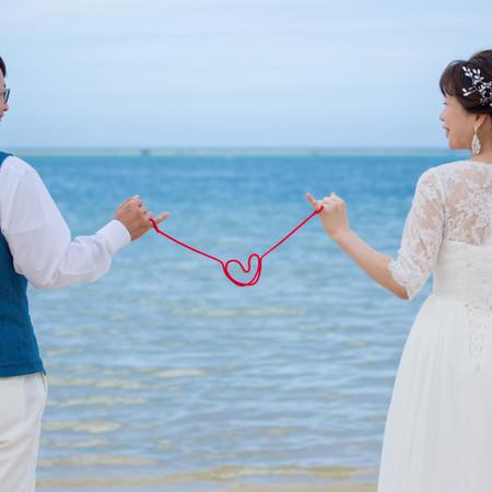 ドレス ロケーション 海 観光地#赤い糸