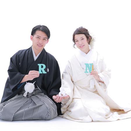 和装 白無垢 紋付袴 イニシャル 小物 DIY スタジオアクア ティファニーブルー スタジオ