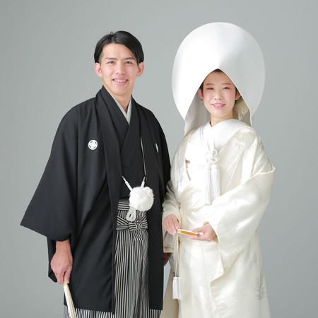 和装 スタジオ 紋付袴 白無垢 スタジオアクア 綿帽子