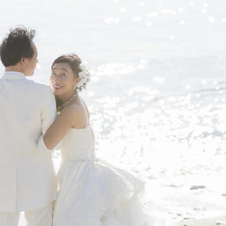 奄美 ビーチ ウェディングドレス タキシード