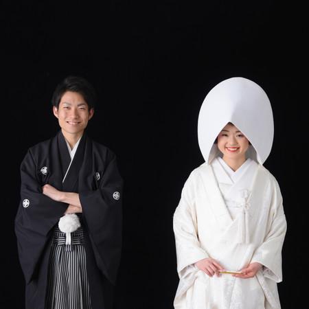 華雅宛 和装 スタジオ 白無垢 色打掛 紋付袴 結婚しました