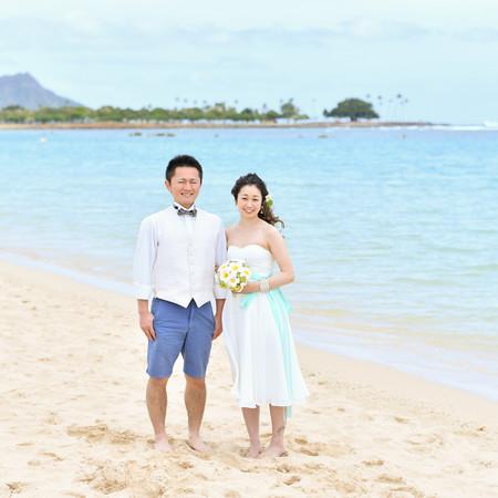 ロケーション 海 ハワイ 後撮り ドレス