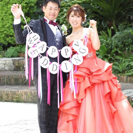 ドレス カラードレス ロケーション タキシード 庭園