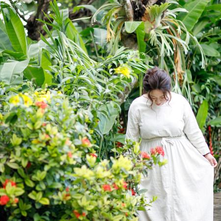 ロケーション 庭園 #海外 ハネムーン ドレス ウェディングドレス 観光地 海