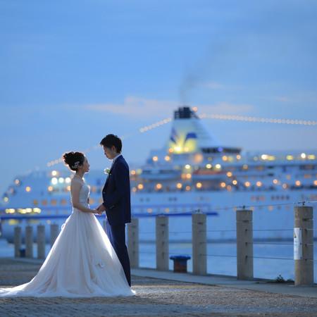 ドレス ウェディングドレス タキシード ロケーション 海 観光地