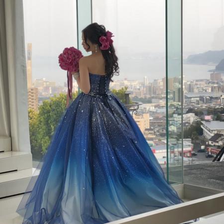 バックショット カラードレス