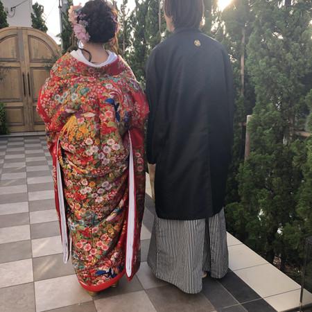 和装 色打掛 スタジオ ロケーション ドレス ウェディングドレス 紋付袴