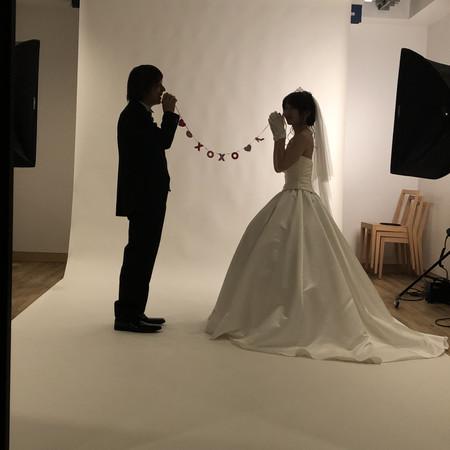 スタジオ ドレス ウェディングドレス ロケーション 和装 色打掛 紋付袴