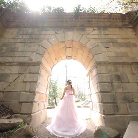 ロケーション 庭園 ドレス カラードレス ウェディングドレス スタジオ フォトウェディング チャペル