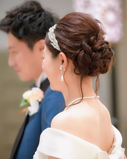 結婚式の花嫁髪型<2019年最新版>ヘアスタイル別アレンジ画像
