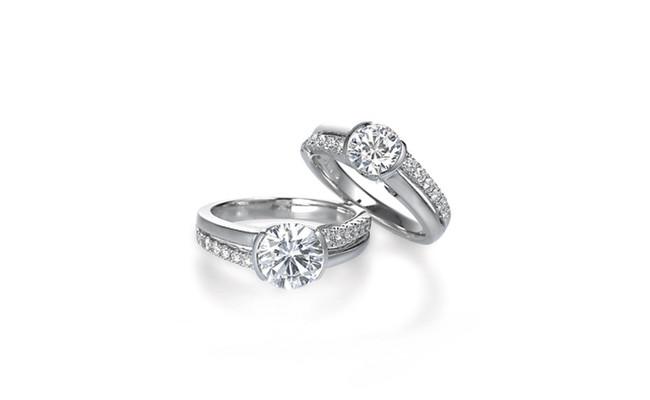 最大限の輝きが引出されたダイヤモンド