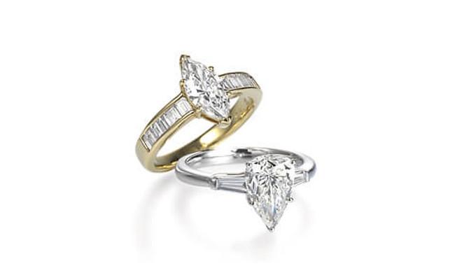 ダイヤモンドの輝きを最大限に活かしたデザイン