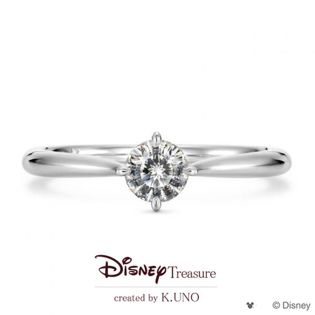 Mickey Mouse Solitaire Ring - ミッキーマウスソリテールリング -
