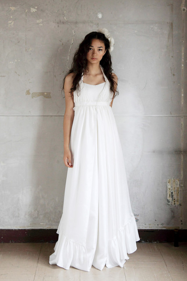 女神のようなシルクのドレス(オーバードレス込み) 2枚目