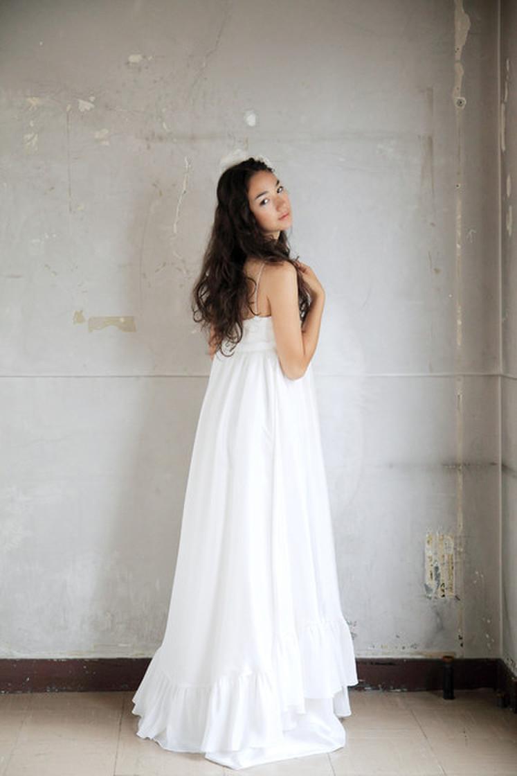 女神のようなシルクのドレス(オーバードレス込み) 3枚目