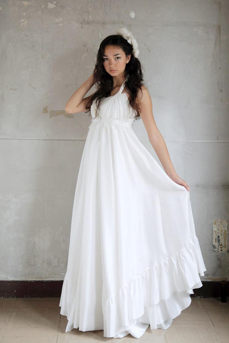 女神のようなシルクのドレス(オーバードレス込み) 1枚目
