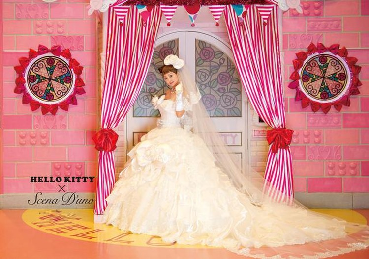 Hello Kitty × Scena D'uno(キティ×神田うのドレス)NO.80001  3枚目