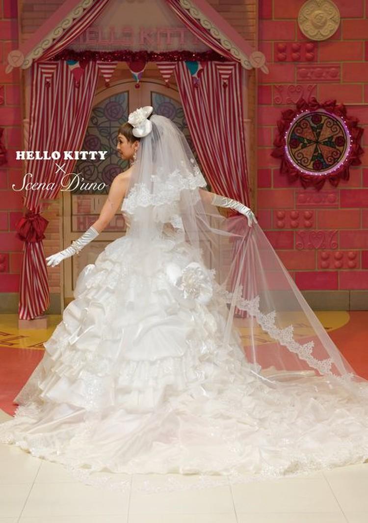 Hello Kitty × Scena D'uno(キティ×神田うのドレス)NO.80001  2枚目