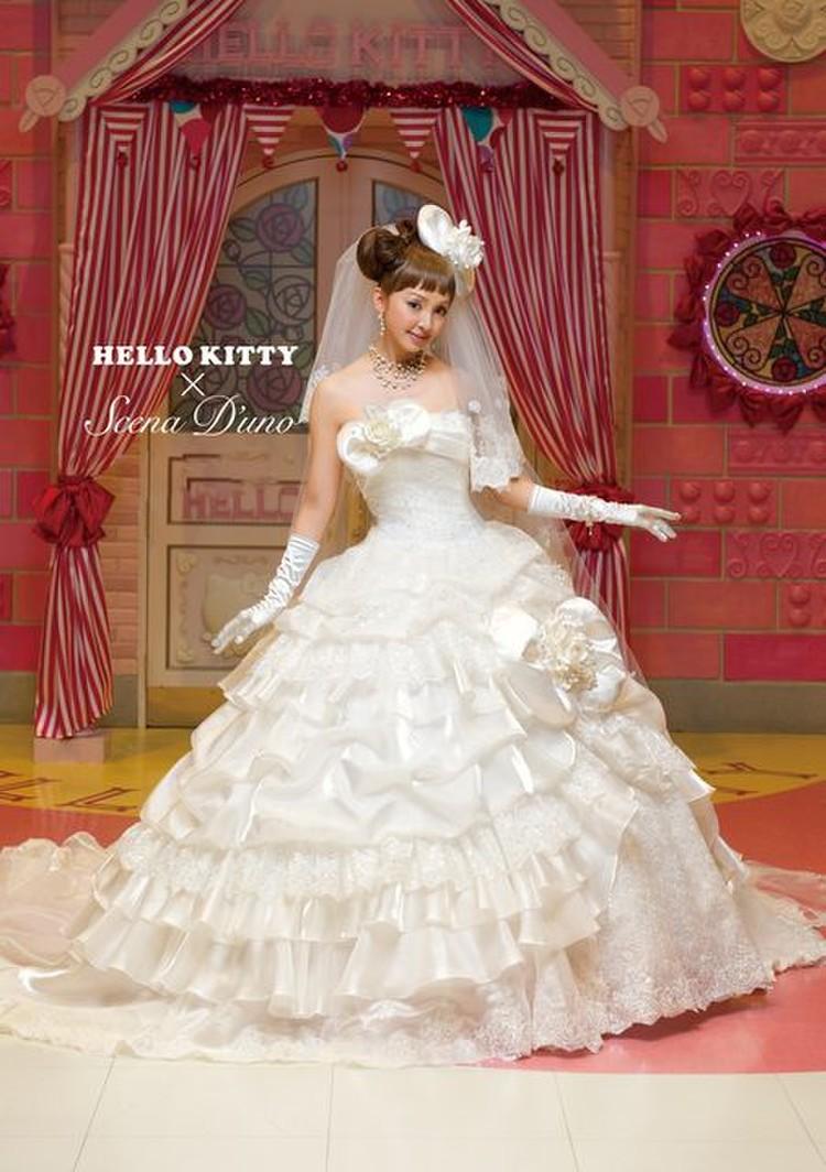 Hello Kitty × Scena D'uno(キティ×神田うのドレス)NO.80001  1枚目