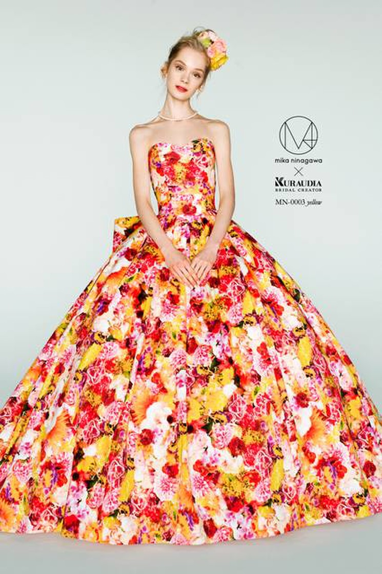 蜷川実花デザインのカラードレス B10-201497 1枚目