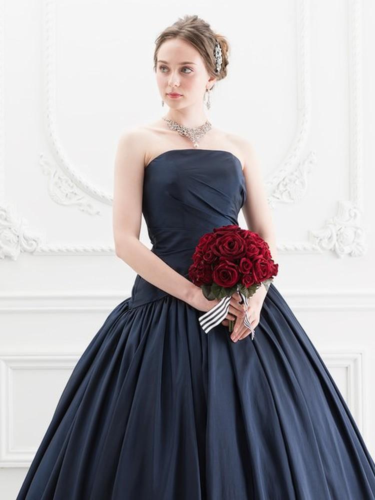 【Cinderella & Co.】ネイビーのカラードレスSS5520NV 3枚目