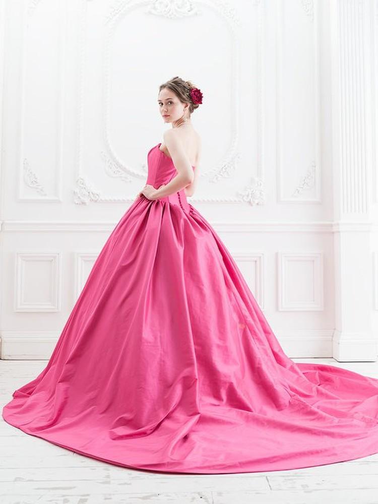 【Cinderella & Co.】ラズベリーピンクのカラードレスSS5523LP 1枚目