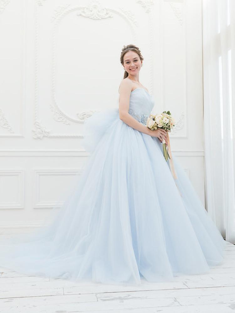 【Cinderella & Co.】ライトブルーのカラードレスSS5591LB 1枚目