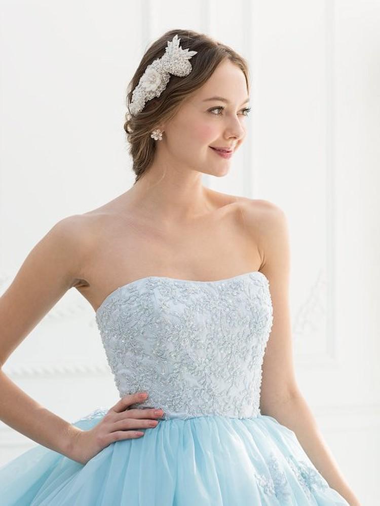 【Cinderella & Co.】ブルーのカラードレスSS2644BL 3枚目